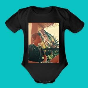 Hot Guy - Short Sleeve Baby Bodysuit