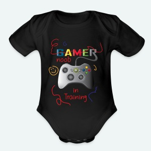 Noob in training - Short Sleeve Baby Bodysuit
