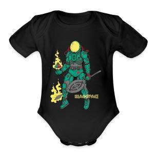 Afronaut - Short Sleeve Baby Bodysuit