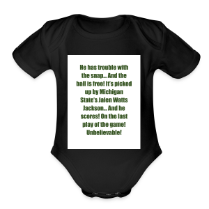 He_has_trouble_with_the_snap-1 - Short Sleeve Baby Bodysuit