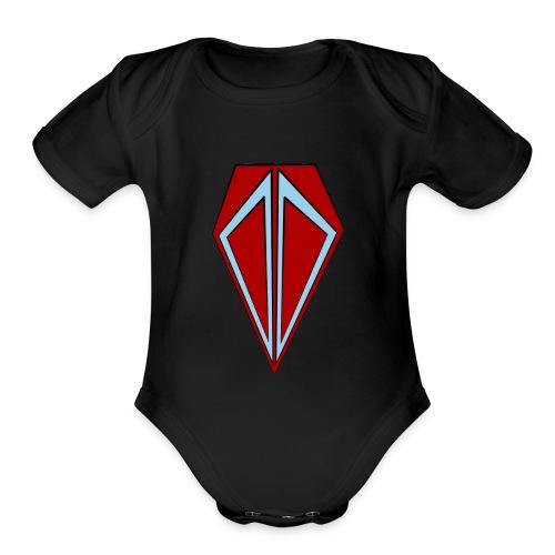 Mining Bros Logo - Organic Short Sleeve Baby Bodysuit