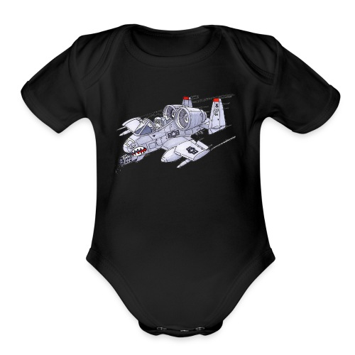 Randy In an A-10 - Organic Short Sleeve Baby Bodysuit