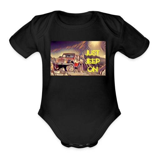 Jeepon1 - Organic Short Sleeve Baby Bodysuit