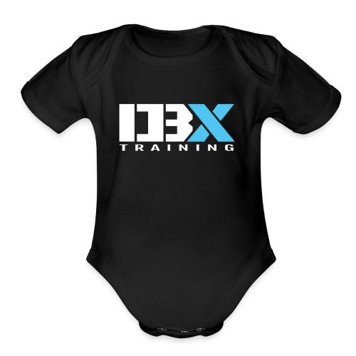 DB X Training logo white - Organic Short Sleeve Baby Bodysuit