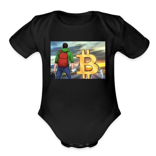 Bitcoin Highway - Organic Short Sleeve Baby Bodysuit