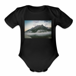 mountain view - Short Sleeve Baby Bodysuit