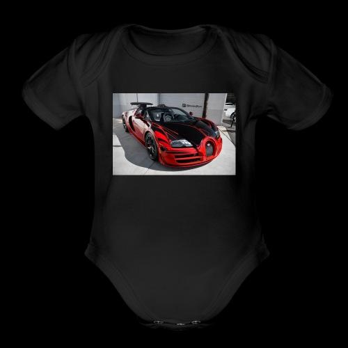 Bugatti Vitesse LOr Rouge 1 - Organic Short Sleeve Baby Bodysuit