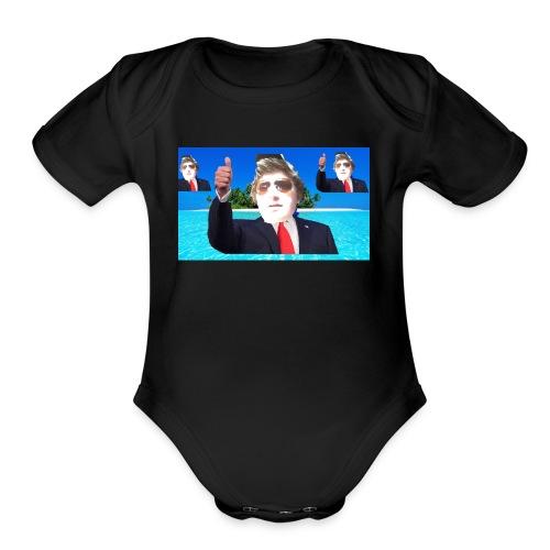 Beach Mullet - Organic Short Sleeve Baby Bodysuit