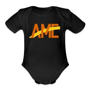 AME Golden Orange Logo - Short Sleeve Baby Bodysuit