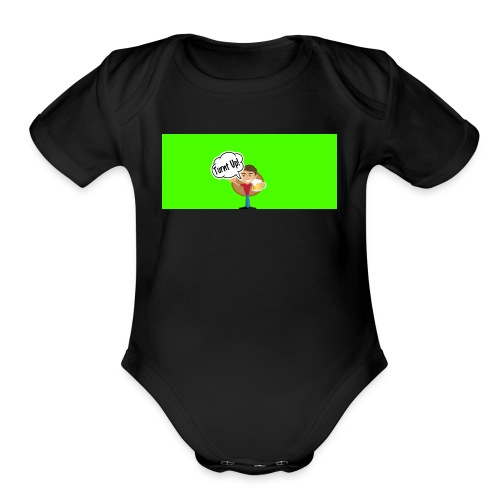 turnt up - Organic Short Sleeve Baby Bodysuit