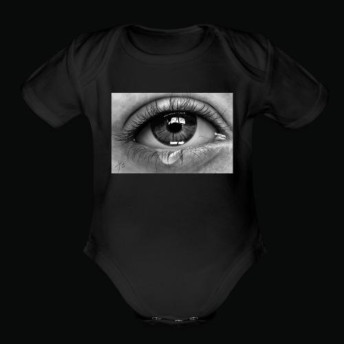 Emotional eye - Organic Short Sleeve Baby Bodysuit
