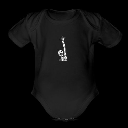 Skelton (any color) - Organic Short Sleeve Baby Bodysuit