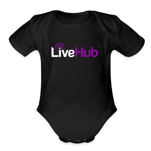 Official LiveHub™ Logo - Organic Short Sleeve Baby Bodysuit