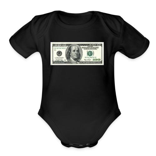 money 4 life - Organic Short Sleeve Baby Bodysuit