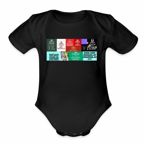 meme colection - Organic Short Sleeve Baby Bodysuit