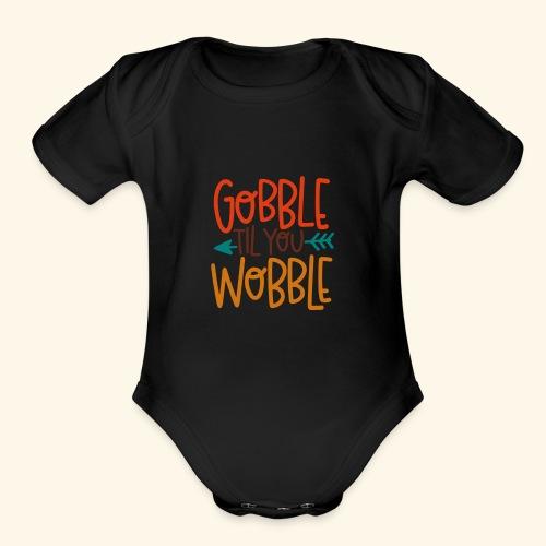 Gobble til Wobble - Organic Short Sleeve Baby Bodysuit