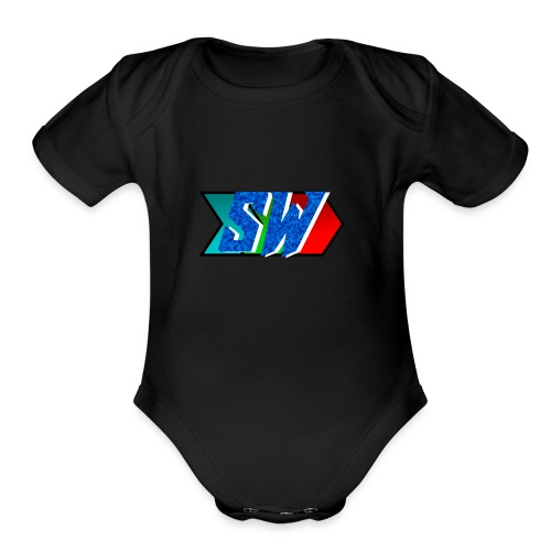 Salty World Logo - Organic Short Sleeve Baby Bodysuit