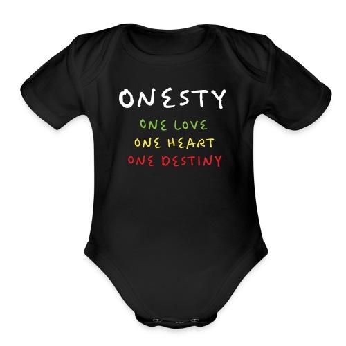 ONESTY WEAR : 2017 S01 - Organic Short Sleeve Baby Bodysuit