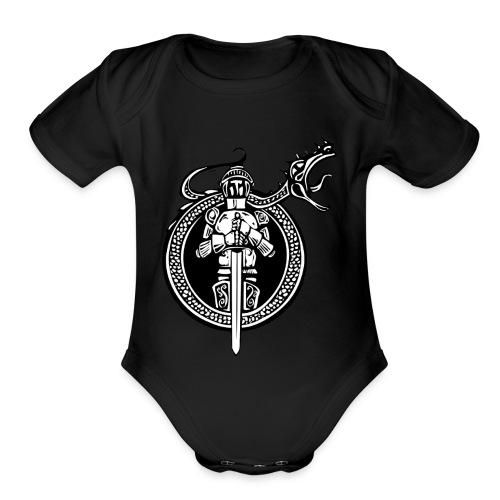 logo knight - Organic Short Sleeve Baby Bodysuit