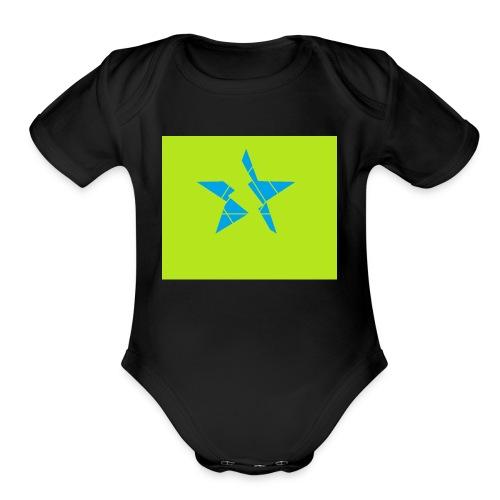 INSANE STAR - Organic Short Sleeve Baby Bodysuit