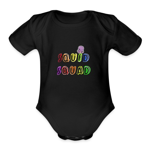 Welcome To The SQUID SQUAD - Organic Short Sleeve Baby Bodysuit