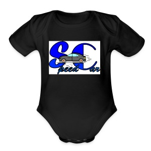 speed car 2 - Short Sleeve Baby Bodysuit