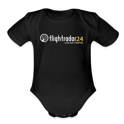 flightradar24 fan club - Organic Short Sleeve Baby Bodysuit