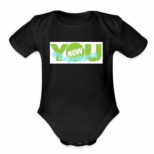 Younow logo - Organic Short Sleeve Baby Bodysuit