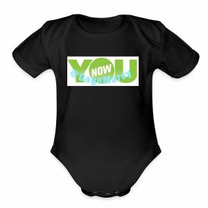 Younow logo - Short Sleeve Baby Bodysuit