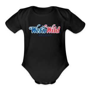 1200px Wet n Wild Orlando logo svgt - Short Sleeve Baby Bodysuit