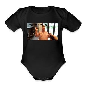 Nick scared - Short Sleeve Baby Bodysuit