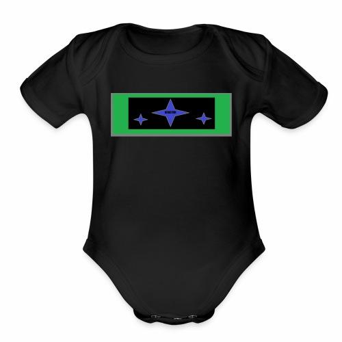 Stars - Organic Short Sleeve Baby Bodysuit