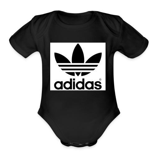 a d i d a s - Organic Short Sleeve Baby Bodysuit