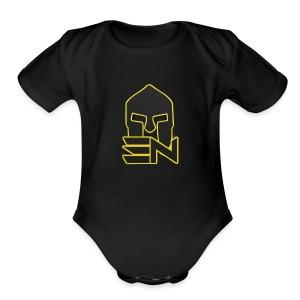 EDGE_LOGO_2-0 - Short Sleeve Baby Bodysuit
