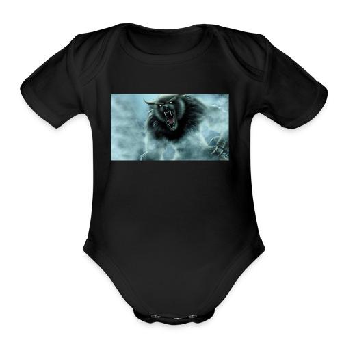 werewolf 08 - Organic Short Sleeve Baby Bodysuit