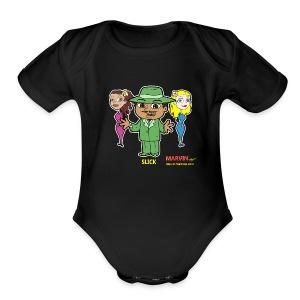 Slick from Marvin the Simp Cartoon - Short Sleeve Baby Bodysuit