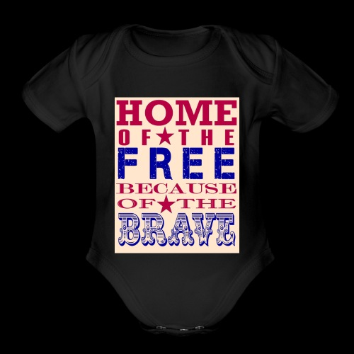 4th of July saying - Organic Short Sleeve Baby Bodysuit