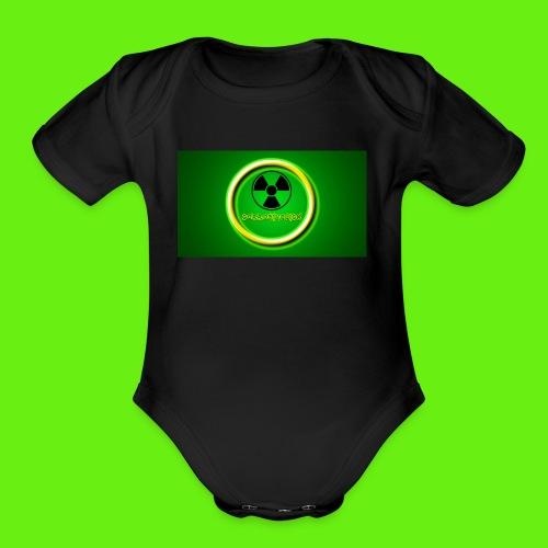 CorrosiveLick Reborn logo - Organic Short Sleeve Baby Bodysuit