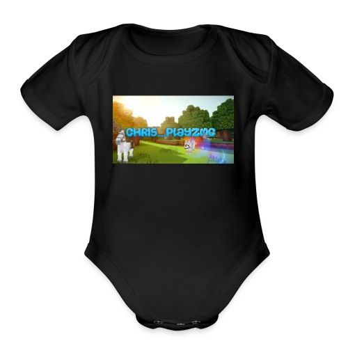 ChrisPlayz - Organic Short Sleeve Baby Bodysuit
