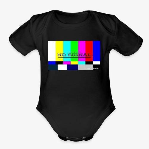 NO SIGNL (classic black) - Organic Short Sleeve Baby Bodysuit