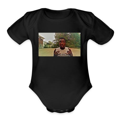 this is b from n&b crowend kings - Organic Short Sleeve Baby Bodysuit