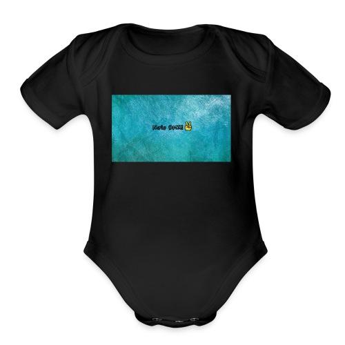 banner - Organic Short Sleeve Baby Bodysuit