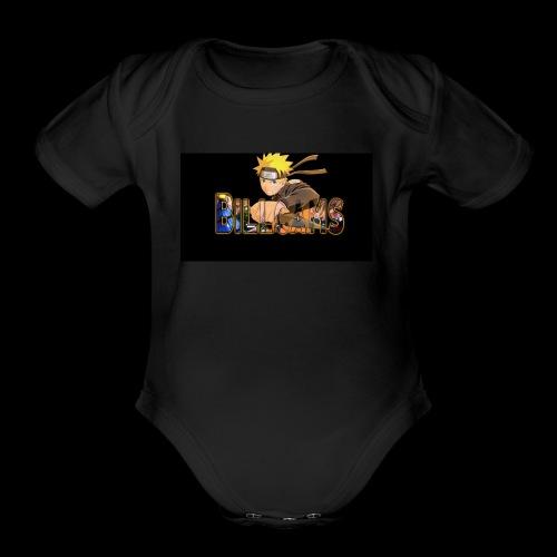 Billcams logo - Organic Short Sleeve Baby Bodysuit