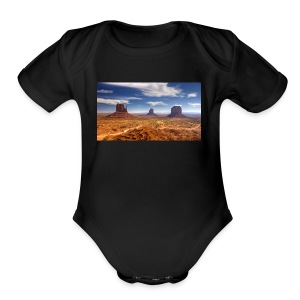 desert - Short Sleeve Baby Bodysuit