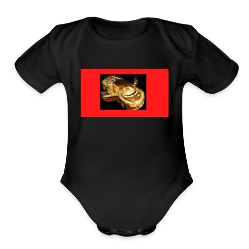 bugatti merch - Organic Short Sleeve Baby Bodysuit