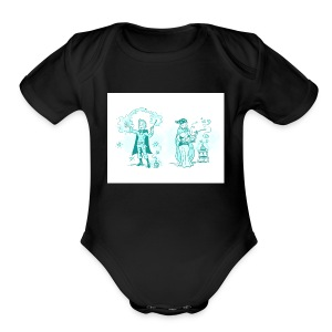 TEST DESIGN - Short Sleeve Baby Bodysuit