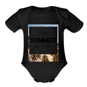 Every Summer has a story - Short Sleeve Baby Bodysuit