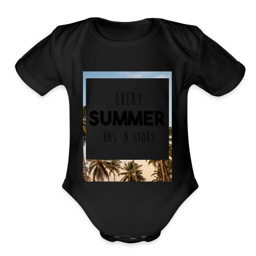 Every Summer has a story - Organic Short Sleeve Baby Bodysuit