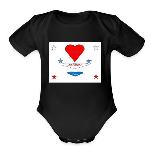 iNNOVA22SWAY LOVE CONQUERS ALL - Organic Short Sleeve Baby Bodysuit