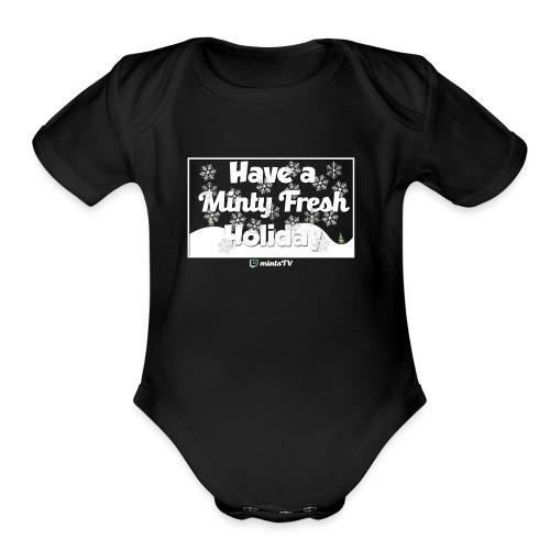 Minty Fresh Holidays - Organic Short Sleeve Baby Bodysuit